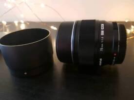 Olympus 75mm F1.8 micro four thirds lens