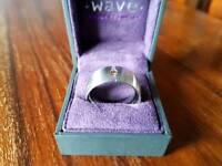 Men's Tension set diamond ring