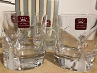 Da Vinci crystal glasses x 4 New