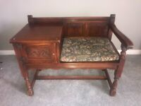 Wood Brothers Old Charm oak telephone table.
