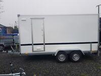 Brand New Twin Axle Box Trailer 400cm x 200cm x 190cm With Fully Lockable Ramp/ Side Door 2700KG