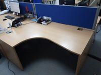Office Desks (right hand and left hand desks - 6 desks in total)