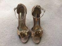NEXT GOLD SATIN High Heel Shoes