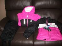 Girl Skiing Coats and Salopettes Size small in Salopettes and aged 7 to 8 Years in Coats