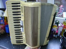 italian 120 bass accordion 4 voice musette tuned