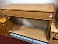 2 drwr oak wood dressing table