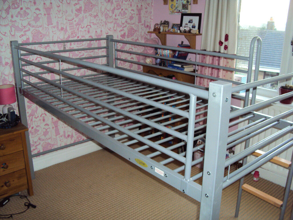 HYDER SILVER LOFT BED SINGLE