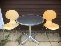 small garden table and chairs