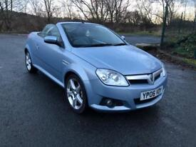 06 REG VAUXHALL TIGRA 1.4 i 16V EXCLUSIV 2DR-NEW TIMING CHAIN-HEATED LEATHER-GREAT CONVIRTIBLE