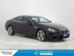 2014 BMW 6 Series 640i xDrive, Exec + M Sport + Tech Pkg, Navi!