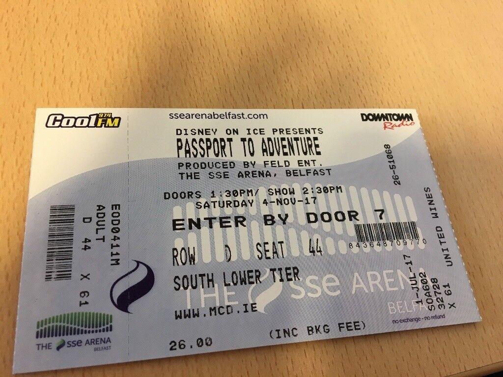 Disney on Ice Belfast Tickets for sale x 4 Sat 4th November