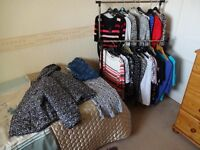 24 ITEMS OF LADIES CLOTHES SIZE 12/ 14 M.S/ WALLIS/ NEXT/ ETC FROM SMOKE AND PET FREE HOME.