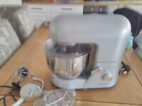 Andrew James food mixer. It is silver and has 4 different beaters.