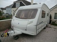 Ace Tristar fixed bed 4 berth caravan 2006 with awning and power mover great condition