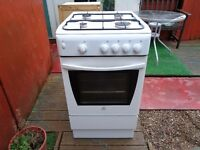 indesit gas cooker 50 cm like new