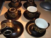 denby arabesque cups and saucers