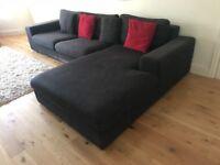 Right Hand Corner Sofa Charcoal