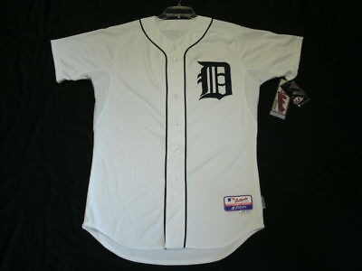 DETROIT TIGERS AUTHENTIC MLB WHITE JERSEY SIZE 56 3XL ON FIELD MADE IN USA 6300