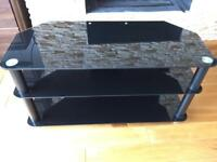 TV table, black chromed.