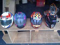 Motorbike quad scrambler helmets