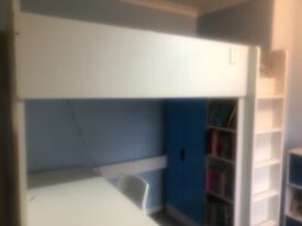 IKEA STUVA Loft Bed with wardrobe, desk & drawers