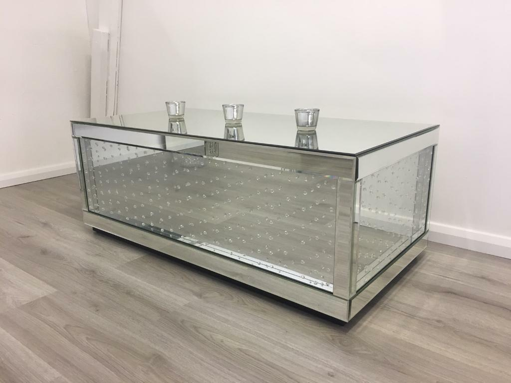 brand new floating crystal coffee table | in chelmsford, essex