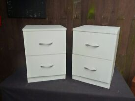 Ex Display White 2 Drawer Bedroom Set delivery available