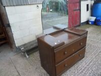 2 Drawer Dressing Table and Mirror Delivery Available £15