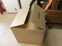 50 X DOUBLE WALL PACKING BOXES FOR SALE 18 X 18 X 18 INCHES