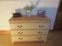 Shabby Chic Country Style Pine Chest of Drawers Annie Sloan Country Grey.