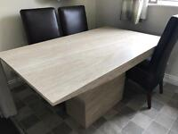 Italian Marble Dining Table with 4 dining chairs, simply stunning! £350 REDUCED for quick sale!