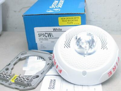 System Sensor Spscwl Fire Alarm Ceiling Speaker Strobe Indoor White