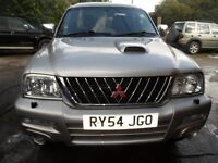 2004 54 MITSUBISHI L200 WARRIOR SILVER GOLD , CLEAN , NEW ENGINE WARRANTY FREE UK DELIVERY