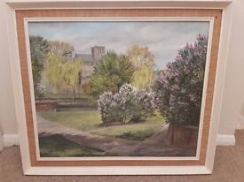 oil paintings, prints and watercolor pictures an assortment.