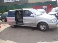 Kia SEDONA L,2902 cc 7 seat MPV,full MOT,sliding doors,great family car,runs and drives well,76k