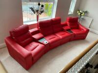 Red leather Lazyboy electric reclining Sofa for sale