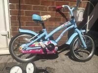 "Girls 16"" cherry lane Halfords bike"