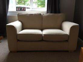 Two seater cream sofa Now Reduced