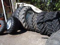 tractor wheels tyres digger