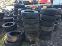 Job lot of part worn used tyres