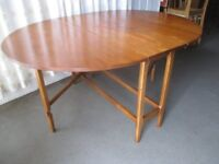 VINTAGE TEAK GATE LEG DROP LEAF EXTENDING DINING TABLE FREE DELIVERY