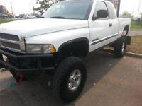2000 Dodge Power Ram 1500 Jacked up Pickup Truck For Trades