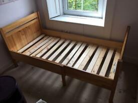 SOLD Wooden child's extendable Ikea bed