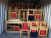 Job lot of chairs and tables