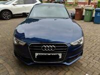 Audi A5 3.0 TDI coupe S line metallic blue