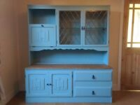 Unique Large Welsh Dresser / Cabinet - Solid Wood - Farrow and Ball - Duck Egg - Delivery