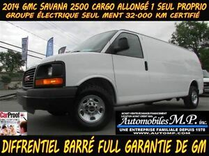 2014 GMC Savana 2500 CARGO ALLONGÉ 32.000 KM CERTIFIÉ 1 SEUL PRO