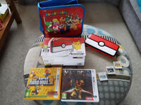 Nintendo 2DS XL Poke Ball Edition + 3 Popular Games + Mario Case