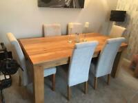 Mango wood furniture set (table, chairs, sideboard and bookshelf)