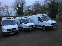 MERCEDES SPRINTER 313 FRIDGE VAN.MWB.miles from 60k to 190k.1 owner